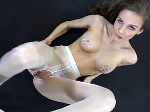 German cunt in pantyhose gets slammed and creamed