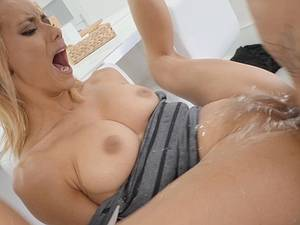 This blonde slut got the anal pounding she deserved