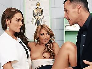 Anal sex with two nurses Dominica Phoenix and Lana in the hospital
