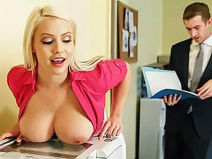 Slutty secretary is ready to suffer punishment for her vulgar behavior