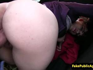 Amateur Czech girl fucked in public