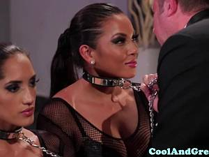 Amazing Adrianna Luna and Chloe Amour make out after threeway